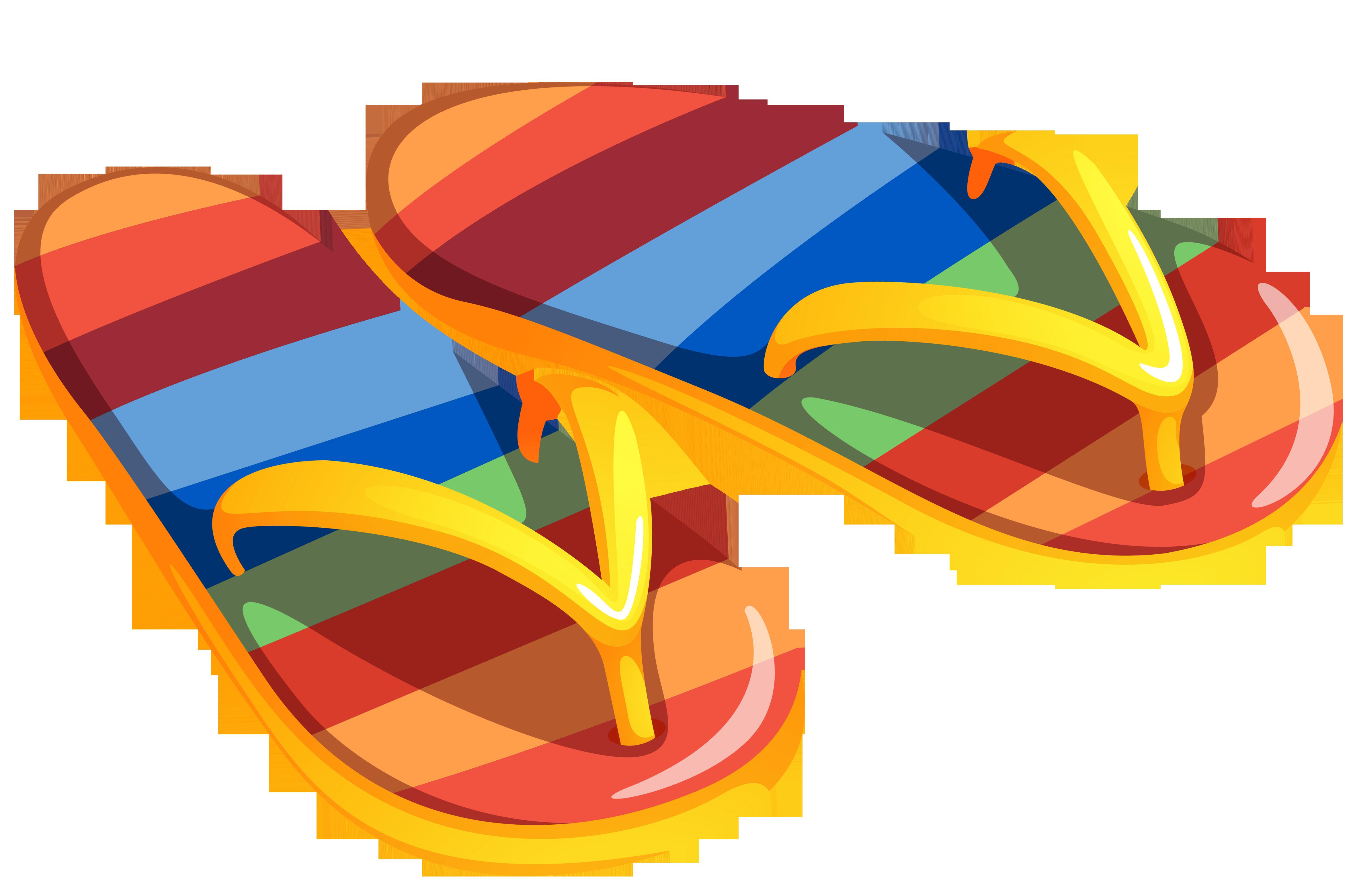 Flip flop clip art images 5.