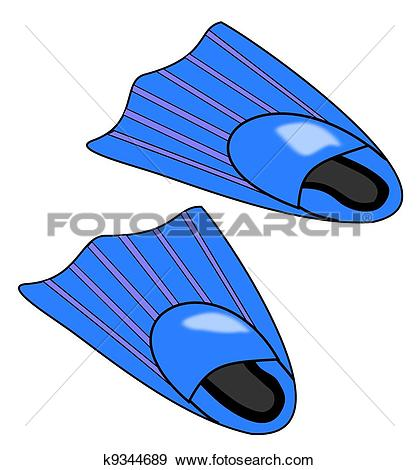 Stock Illustration of Pair of Blue Flippers k9344689.