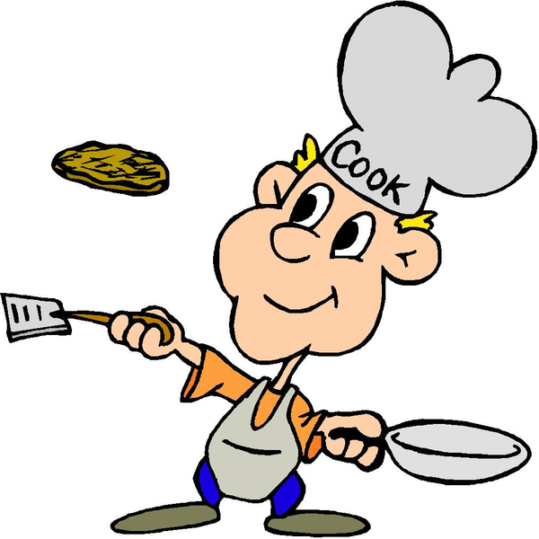 Flipping Pancakes Clipart.