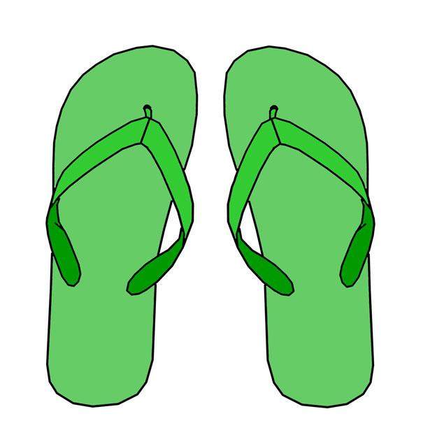 Simple Flip Flop Clipart.