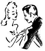 Flirt clipart.