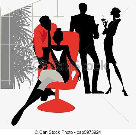 EPS Vector of Office flirt.