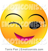 Royalty Free Flirty Stock Emoticon Designs.