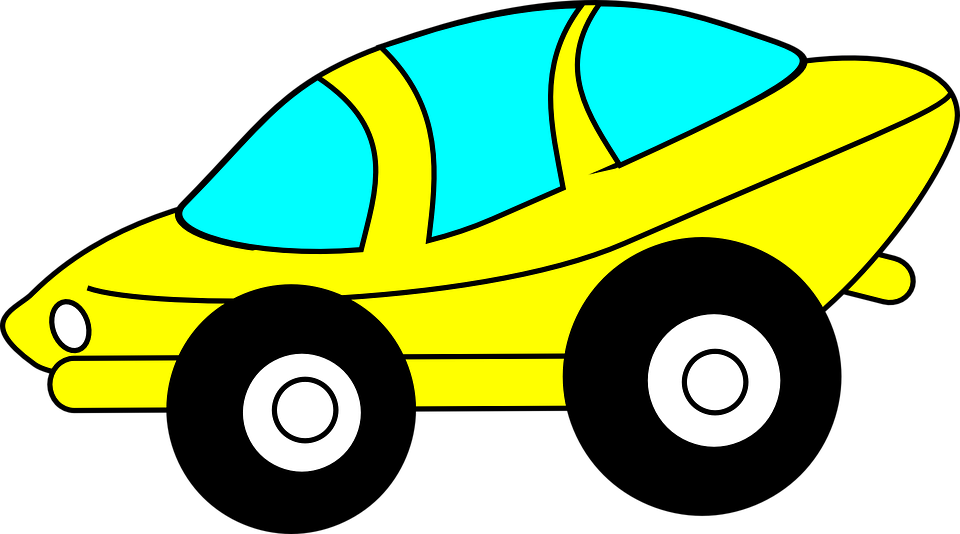 Free vector graphic: Car, Driving, Yellow, Futuristic.