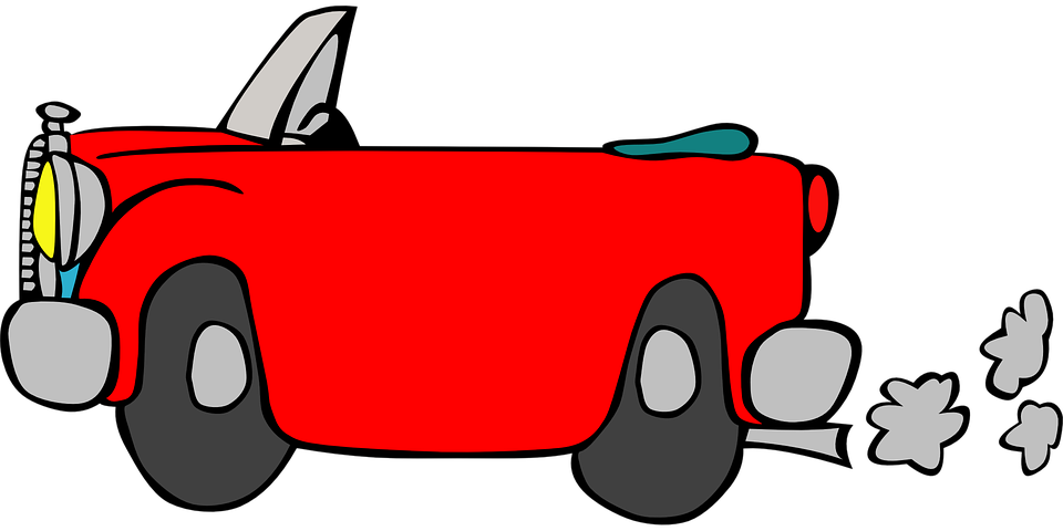 Free vector graphic: Car, Driving, Vehicle, Red.