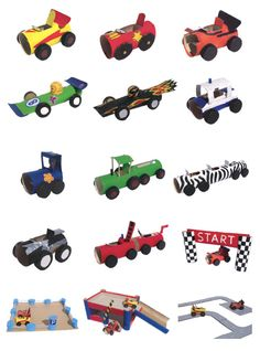 Tractor And Grain Harvester Paper Models.