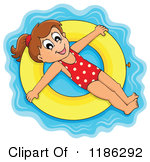 Inner tube float clipart.