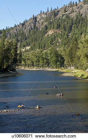 Stock Photography of People float down the Kettle River at Kettle.