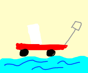 the wagon and float down the river.