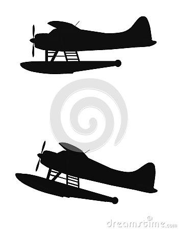 Float Planes Stock Photo.