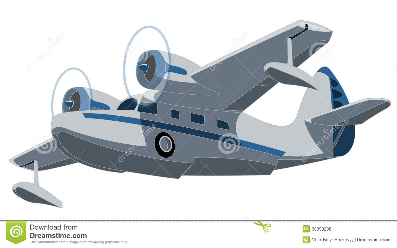 Seaplane Stock Vector.