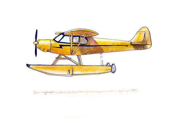 Piper aircraft clipart.