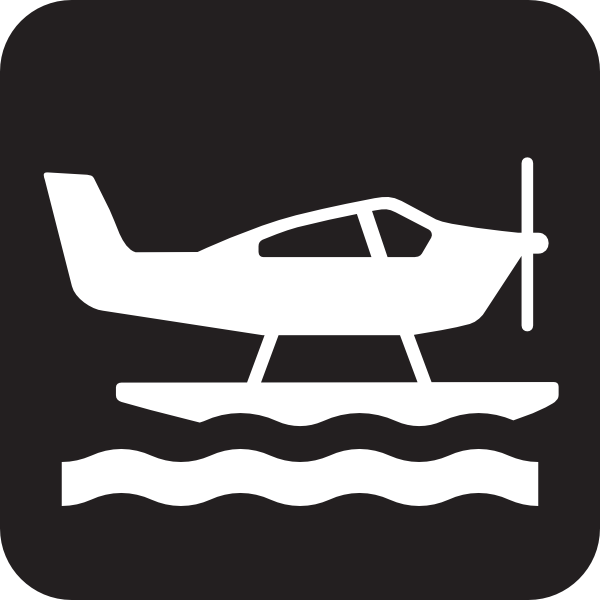 Sea Plane Black Clip Art at Clker.com.
