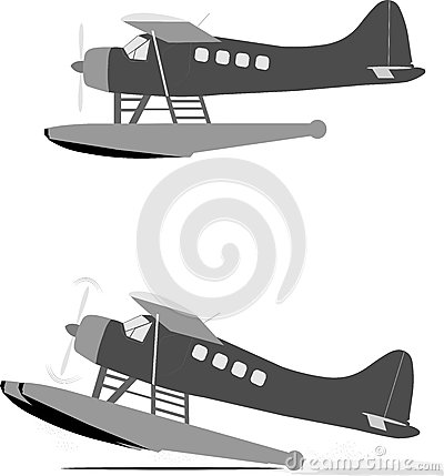 Float Planes Stock Illustration.