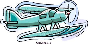 float plane Vector Clip art.