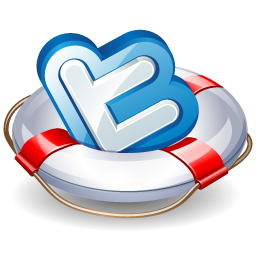 Twitter Floatation Device Icon, PNG ClipArt Image.