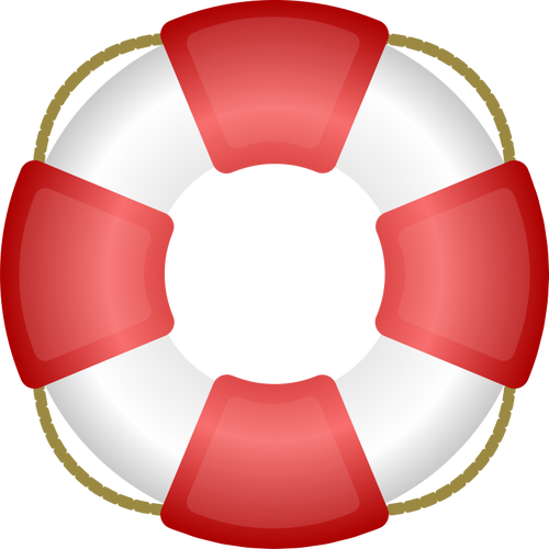 A personal flotation device vector clip art.