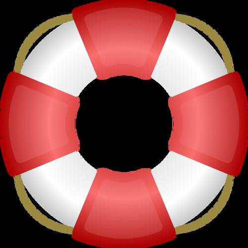 A personal flotation device vector clip art.