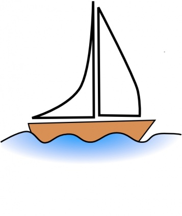 Floating Boat Clipart.