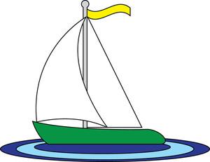 Sailboat Clipart Image.