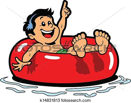 Floating body clipart.