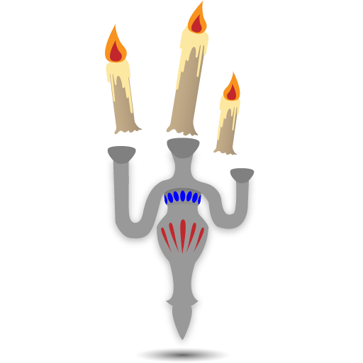 Scary Floating Candles Icon, PNG ClipArt Image.