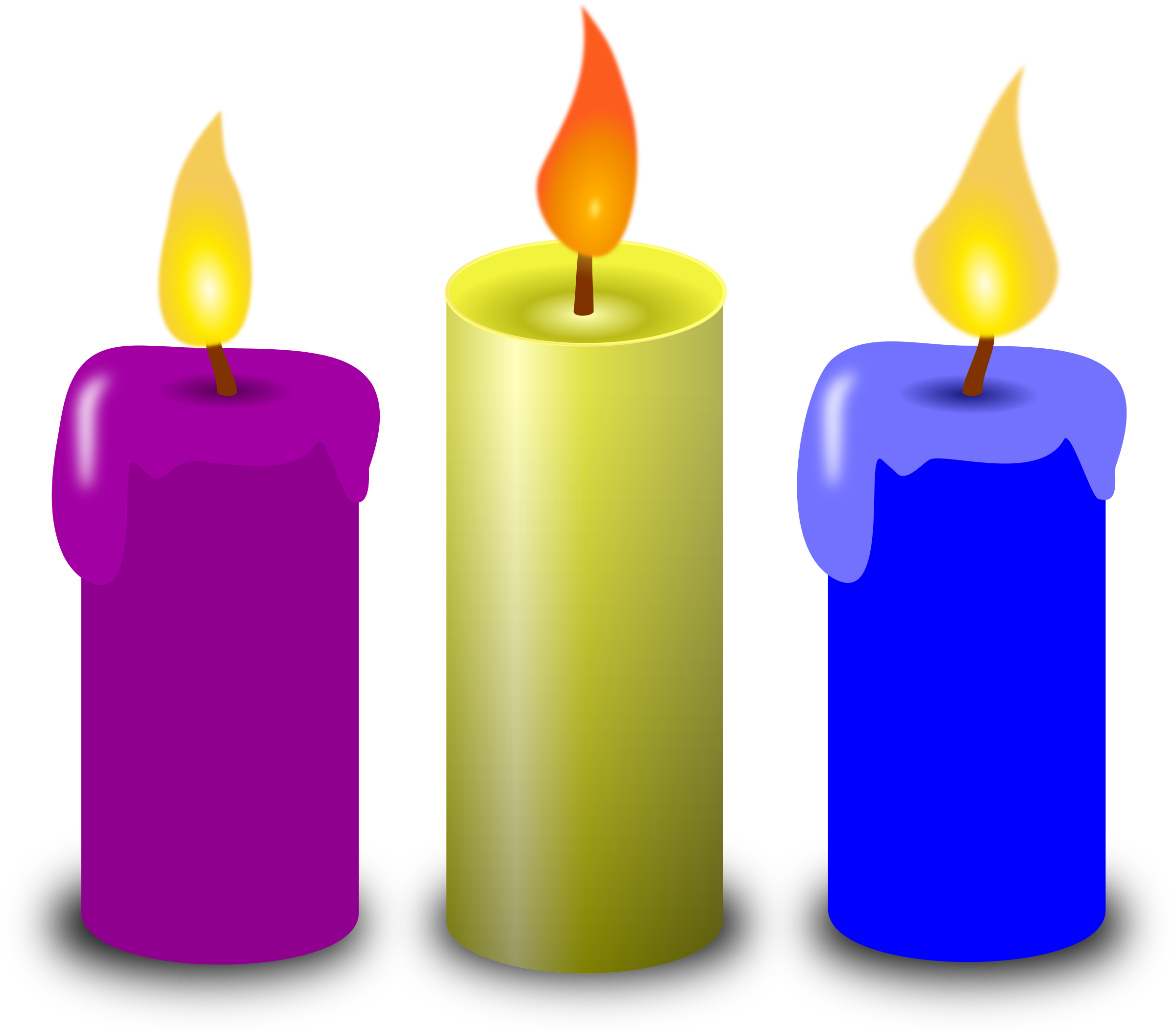 colored candles.