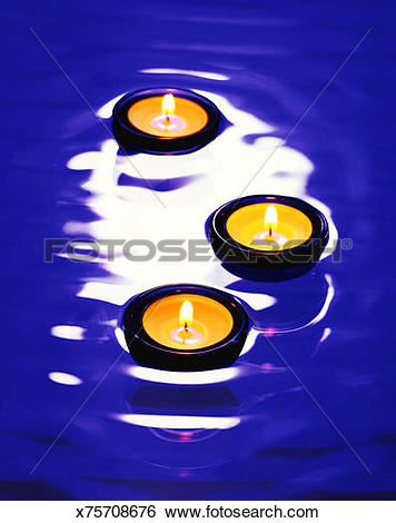 Stock Images of Floating candles x75708676.