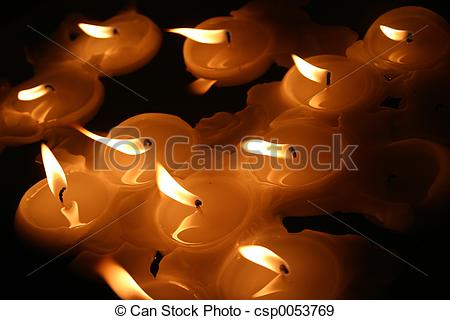 Stock Photographs of Floating candles.