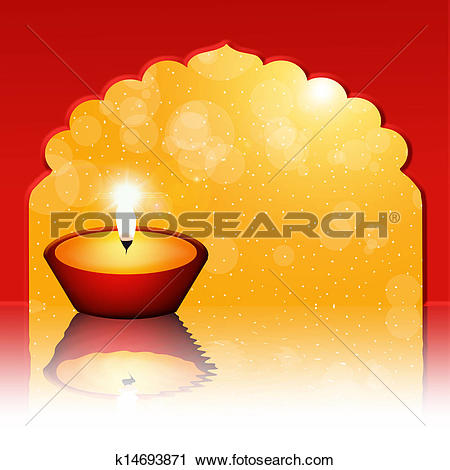 Clipart of Floating candle k14693871.