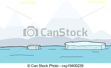 Vectors of Floating Pieces of Iceberg.