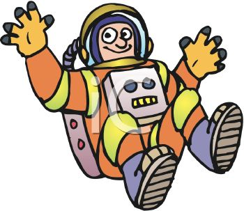 Floating astronaut clipart.