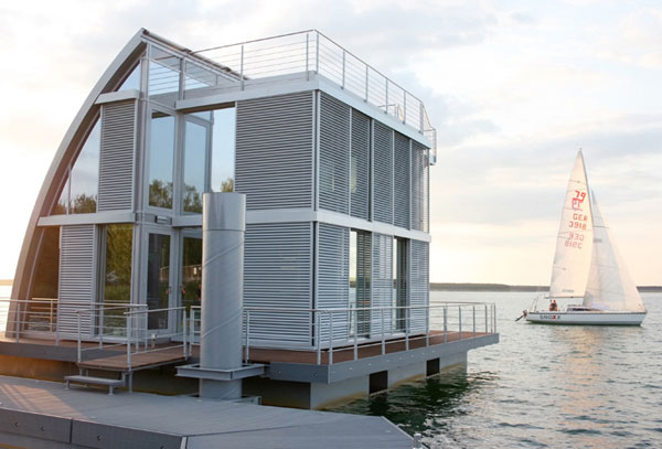 House Floating On Water, Floating Lake House Inspired by Sailboats.