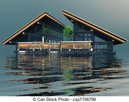 Floating house Stock Illustrations. 589 Floating house clip art.