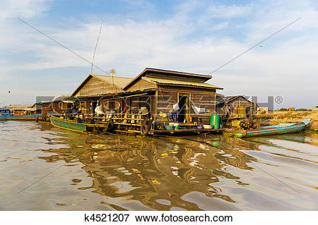 Picture of Chong Kneas Floating House, Cambodia k4521207.