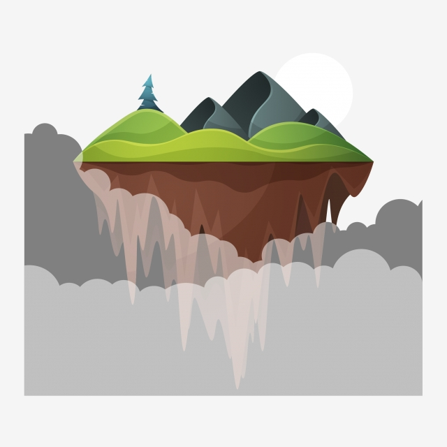 Floating Island PNG Images.