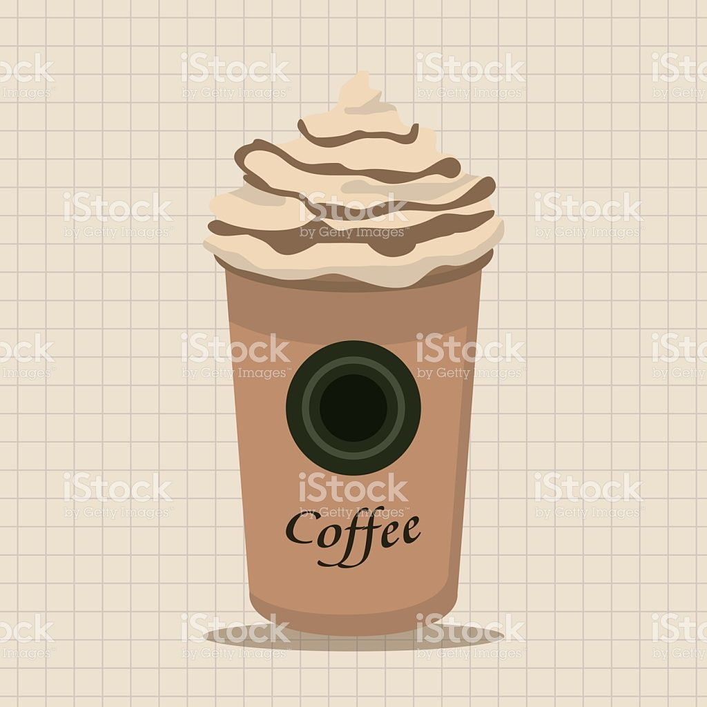 Ice Floating Coffee Theme Elements stock vector art 499769654.