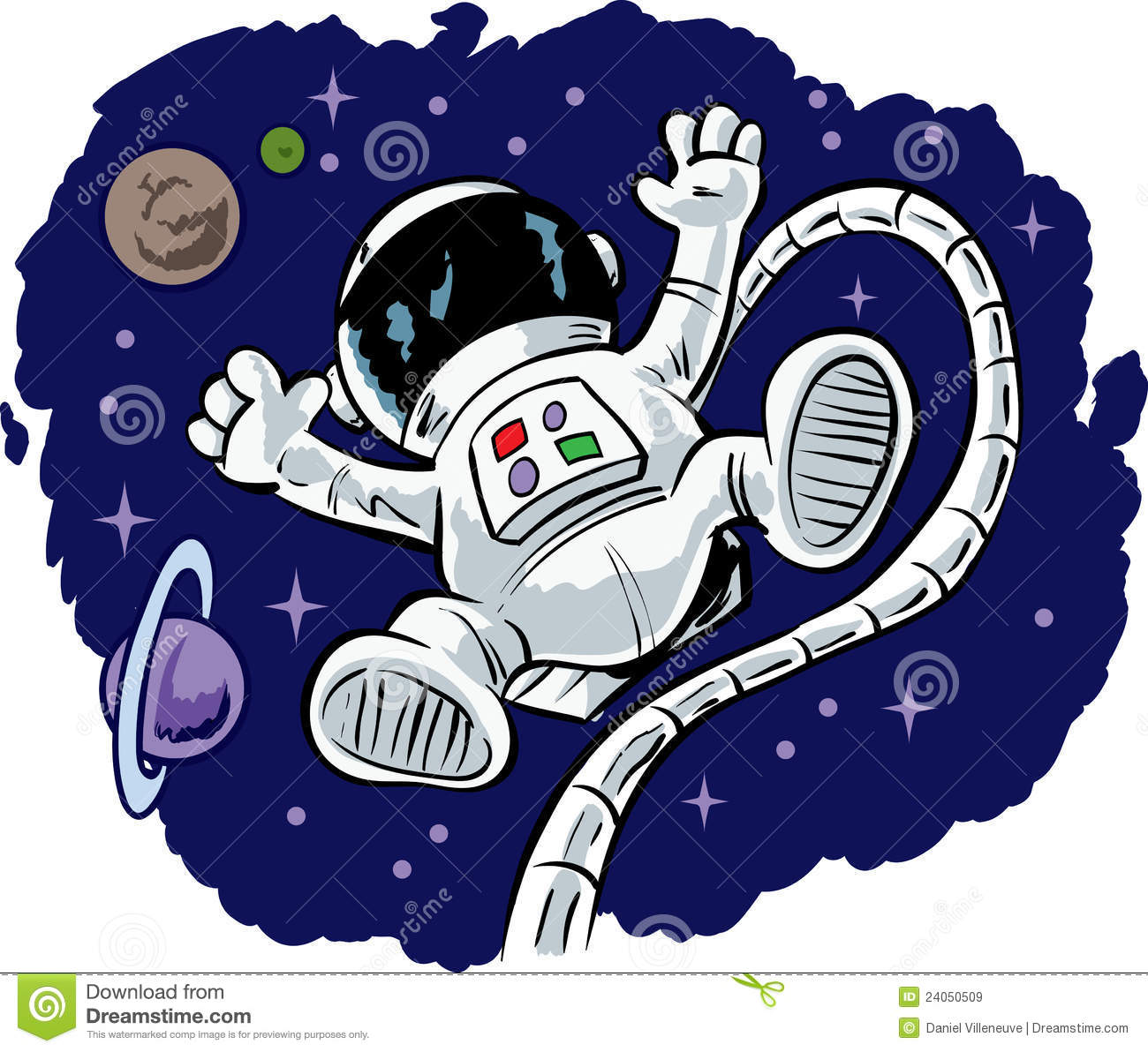 Astronaut On Moon Clipart.