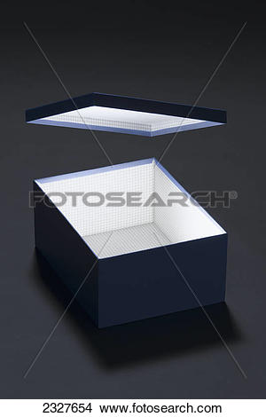 Stock Photo of Conceptual photo of an illuminated box with a.