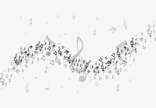 Music Notes Floating Material PNG, Clipart, Black, Floating.