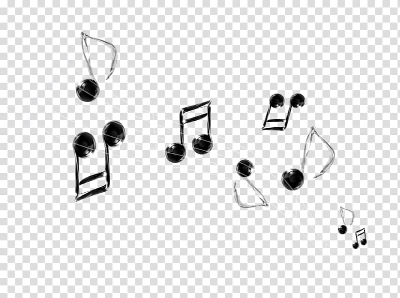 Musical note Transparency and translucency, notes floating.