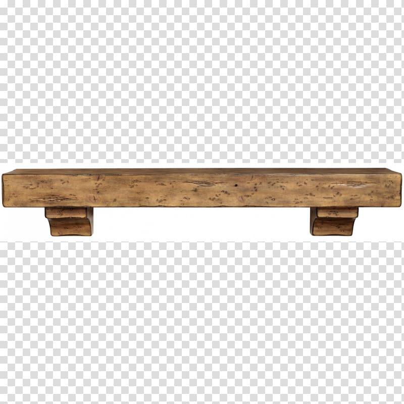 Floating shelf Fireplace mantel Table, table transparent.