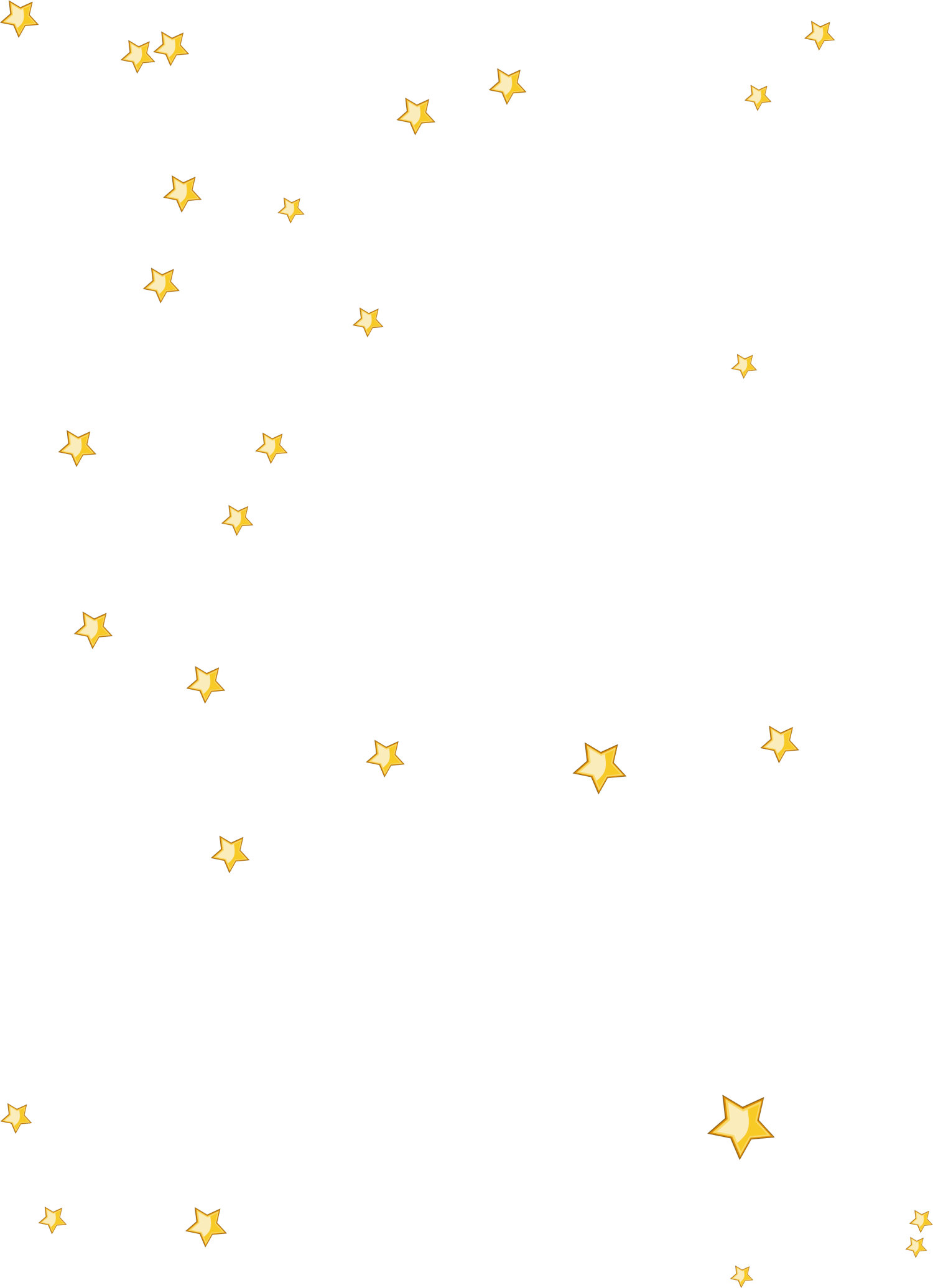 Yellow floating stars png download.