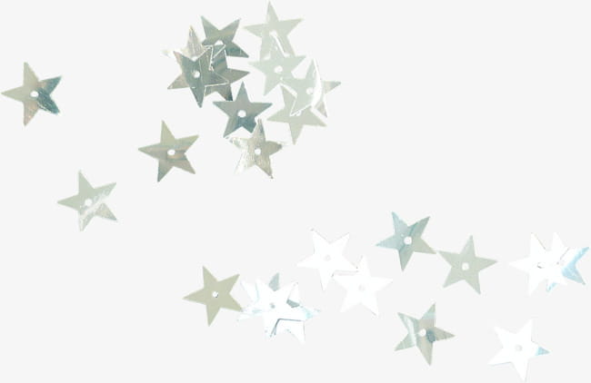Floating stars PNG clipart.