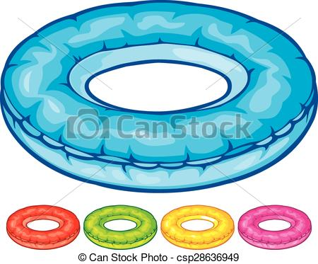 EPS Vector of inflatable inner tube (floater, swimming tire.