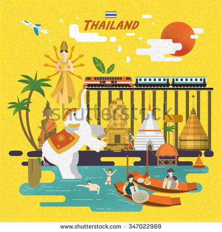 Bangkok Floating Market Stock Vectors, Images & Vector Art.