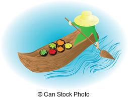 Floating market Vector Clip Art EPS Images. 327 Floating market.