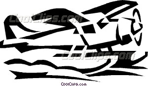float plane Vector Clip art.