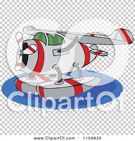 Clipart Cartoon Seaplane On Water.