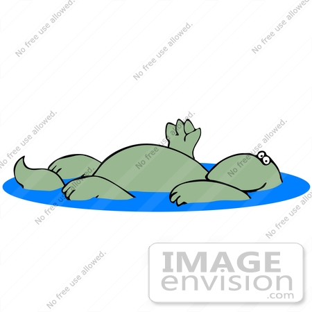 Float water relax clipart.